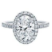 TT stijl 2 Carat Oval ring Mooie Synthetische Gem Verlovingsring Ringen voor vrouwen