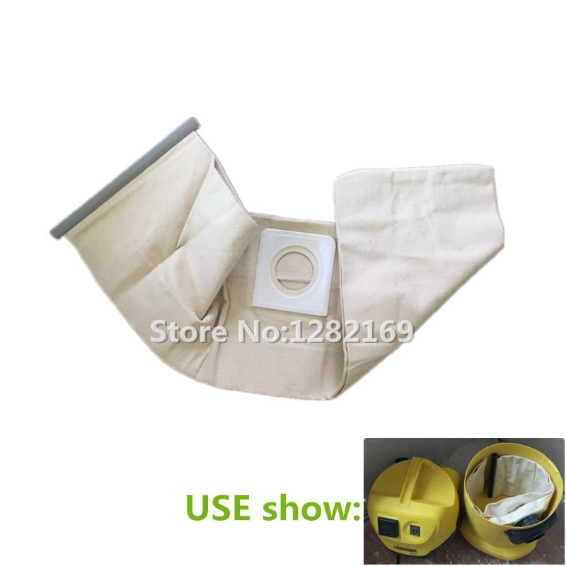 1 Piece Vacuum Cleaner Cloth Bag Dust Filter Bag For Karcher WD3.200 WD3.300 SE4001 MV1 MV3 A2204 A2656 Vacuum Cleaner Parts