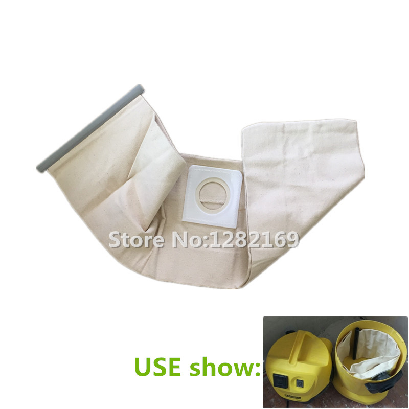 1 piece Vacuum Cleaner Cloth Bag Dust Filter Bag replacement for Karcher WD3.200 WD3.300 SE4001 MV1 MV3 A2204 A2656 vacuum cleaner cloth bag washable dust bag replacement for karcher t17 1 t12 1 t8 1 t14 1 bv5 1 t 10 1