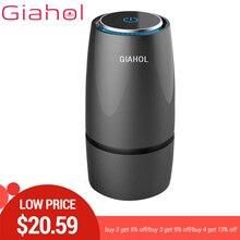 GIAHOL Anion filtr powietrza samochodowy oczyszczacz Cleaner USB przenośny Mini kubek odświeżacz powietrza automatyczny klimatyzator do samochodu domu 20 ㎡ obszar