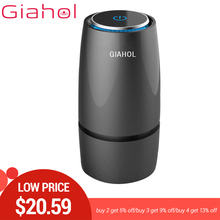 GIAHOL Anion, purificador de filtro de aire para coche, purificador de aire portátil USB, Mini taza, ambientador, acondicionador de aire automático para el hogar del coche, 20 Ω área