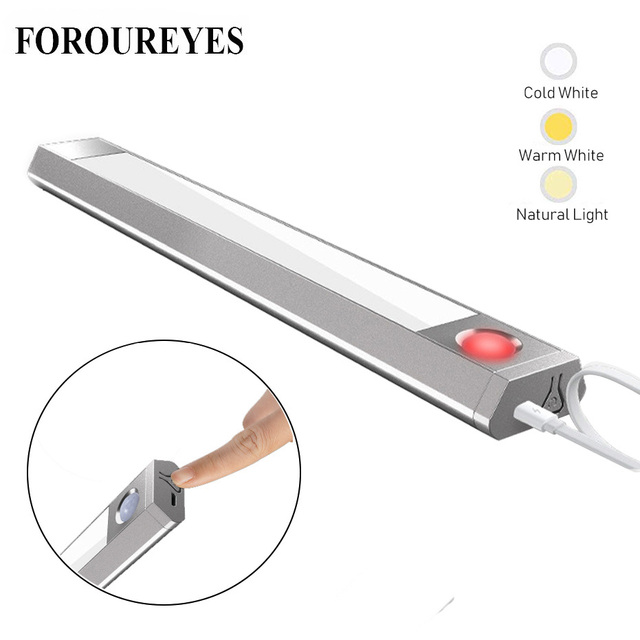 Light Motion Sensor Led Smart lamp Under Cabinet Light Three Color Temperature Three Mode Lighting for Cupboard Closet Kitchen