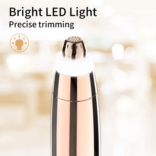 Electric Eyebrow Trimmer Epilator Painless Face Eye brow Hair Remover Pen Lipstick Shaver with LED Light Shaving Dropshipping 1