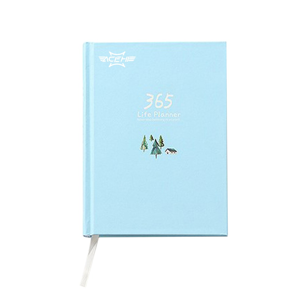ACEHE 365 Days Personal Diary Planner Hardcover Notebook Diary Daily Weekly Yearly Schedule Cute School Office Stationery 365 days personal diary planner