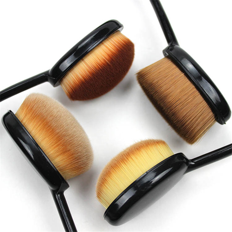 Make Up Brush 4 Models Toothbrush Oval Shape Conceler Foundation Blush Brush With Cover For Women Cosmetics Pinceaux Maquillage