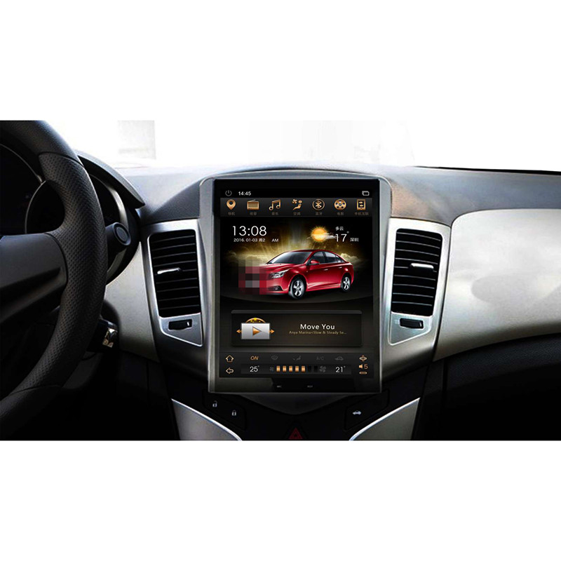 CHOGATH 10.4 ''android 7.1 écran Vertical 2 + 32G autoradio GPS stéréo multimédia pour Chevrolet Cruze 2008-2012 avec cartes, canbus