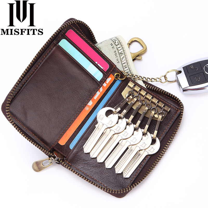 Coin Purses & Holders Natural Skin Accessories Key Holder Keychain Housekeeper Weave Key Keyring High Quality Men Genuine Leather Car Key Case Holder Warm And Windproof