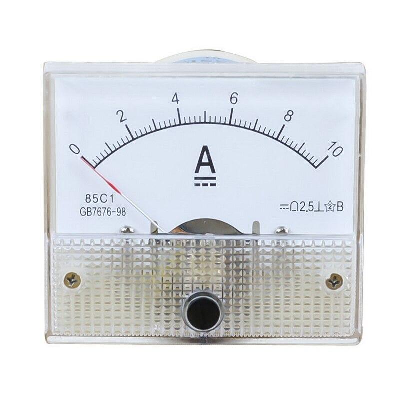 1 Stück Dc Kunststoff Analogen Zeiger Amperemeter Ampere Meter Amp Panel 1a 2a 3a 5a 10a 20a 50a 100a Mechanische Strom Meter 64*56mm