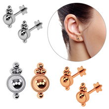 Lip-Ring Piercing Labret-Ear Body-Jewelry Stainless-Steel Hot-Selling Round for Women/man