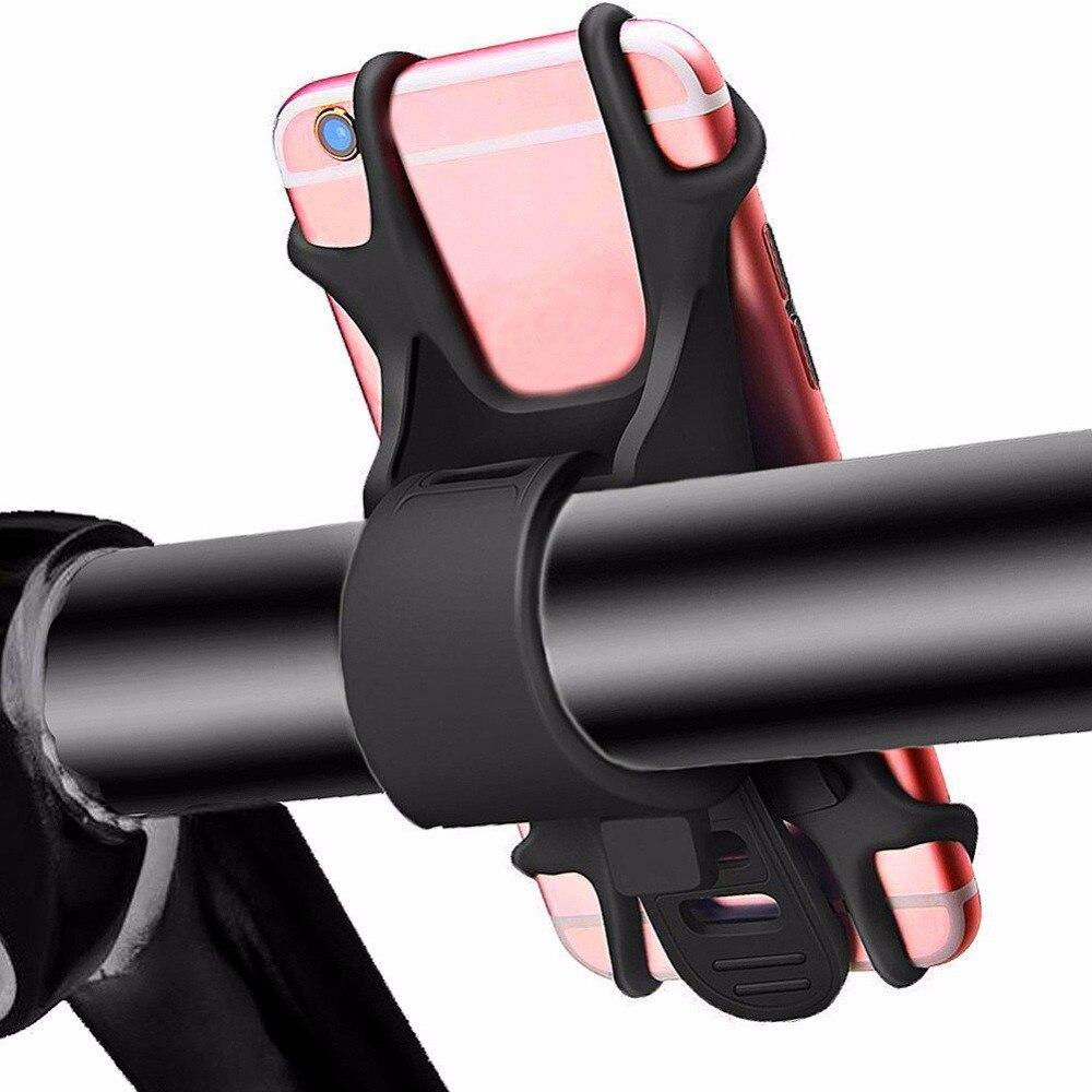 2018 Handy Halter für Fahrrad Motorrad Universal Silikon Fahrrad Lenker halterung für Samsung Galaxy S8 S7 S6 iPhone X 7 6 s