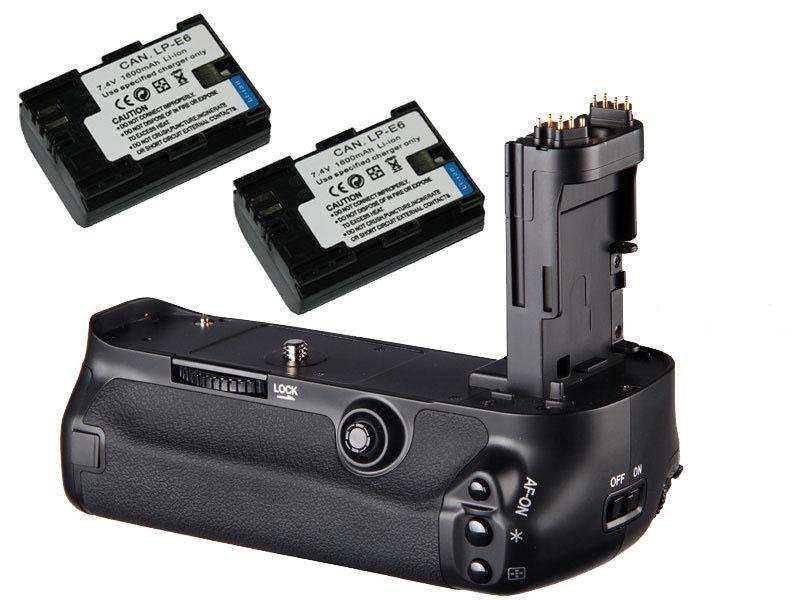 JINTU Vertical Shutter Batter Grip 2pcs LP E6 Batteries w AA holder Fr Canon 5D3 5DIII