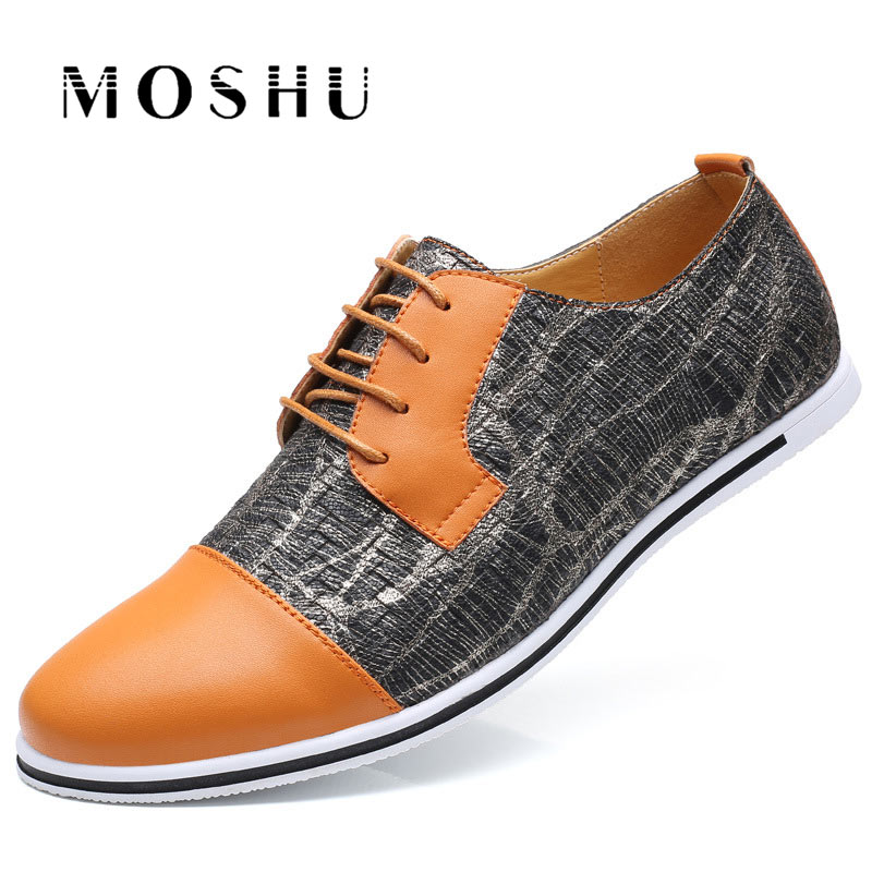Fashion Summer Men Flats Oxford Breathable Casual Shoes Lace Up Mixed Colors Luxury Brand Plus Size 38-47 Male Shoes