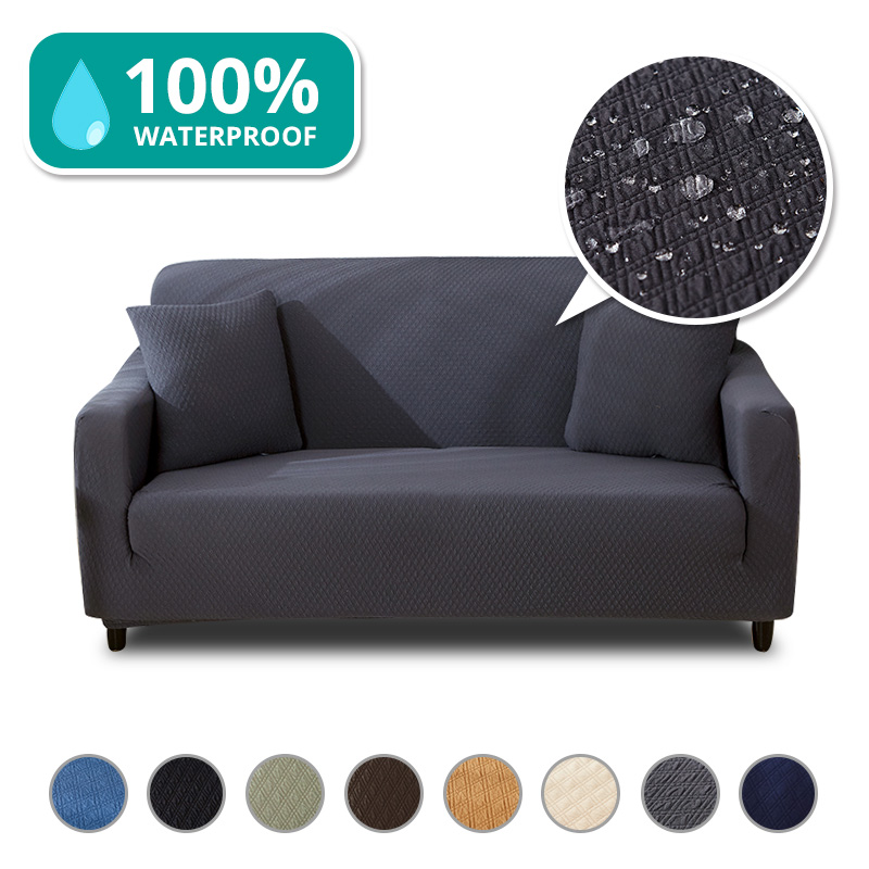 Waterproof Sofa Slipcovers Thick Modern Living Room Sectional Couch Cover for Dogs Pets Cats Furniture Protector Stretch Elastic