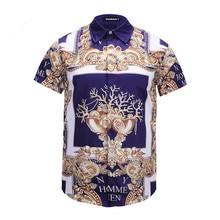 Urumbassa Shirt sleeve Man Vintage New 2018 summer retro print Shirts Tops M063