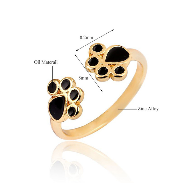 Women's Cat Paws Shaped Rings