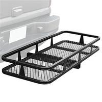 Sailnovo 59 x 20.5 Car Organizer Auto Storage Car Hitch Mounted Folding Cargo Carrier Black Car Trunk Tail Car Accessories