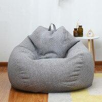 Дома Ленивый мешок фасоли диван Гостиная и Спальня мягкий стул погремушка отдыха диван кровать открытый диване татами один с наполнителем
