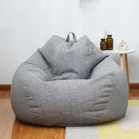 Дома Ленивый мешок фасоли диван гостиная и спальня Мягкая погремушка стул софа кровать для отдыха для дивана на открытом воздухе татами оди