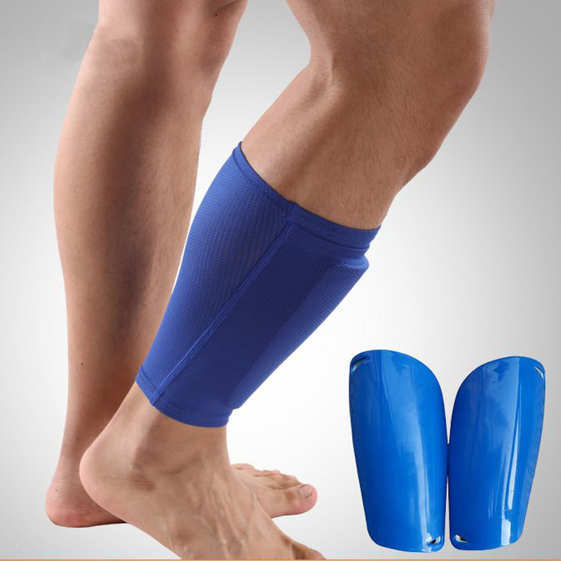 349e4649302a2 Football Shin Guards Calf Support Protection Soccer Shin Guards Goalkeeper Football  Leg Sleeve Protective Pads Socks ...