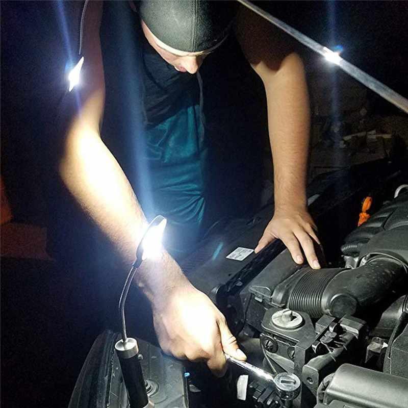 Ferramenta ao ar livre magneticamente dobrável luz de trabalho ângulo ajustável led luz liga de alumínio embalagem cob luz de trabalho com ímã # xtn