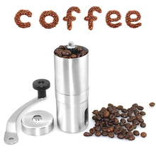 1Pcs Coffee Grinder Stainless Steel Silver Hand Manual Handmade Coffee Bean Grinder Mill Kitchen Grinding Tool недорого