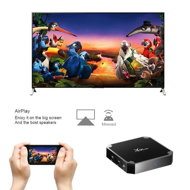 XGODY X96 mini Android TV BOX Media Player 2GB 16GB Amlogic S905W Quad Core UHD 4K 2,4 GHz WiFi 1GB 8GB Smart Set-top