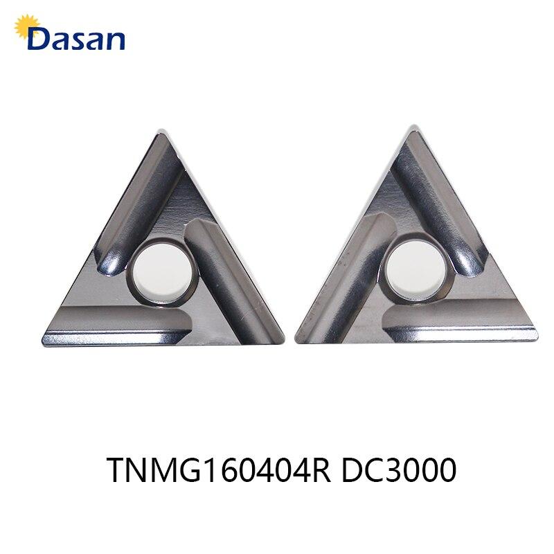 Купить с кэшбэком 10pcs TNMG160404R Carbide Inserts  Cermet Blade TNMG 160408R DC3000 Lathe Blade Cutter Turning Tool