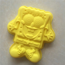 Cartoon SpongeBob SquarePants Shape Silicone Cake Pan Big Si