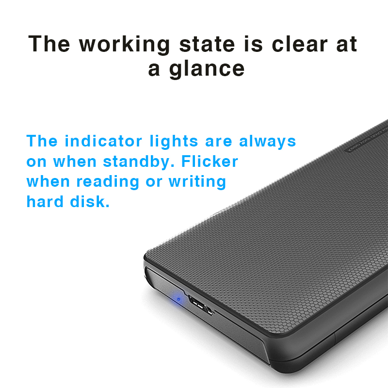 """Image 2 - Hard Drive Enclosure, Portable HDD Box SATA to USB 3.0 Adapter  for  2.5"""" External SSD HDD Case-in Computer Cables & Connectors from Computer & Office"""