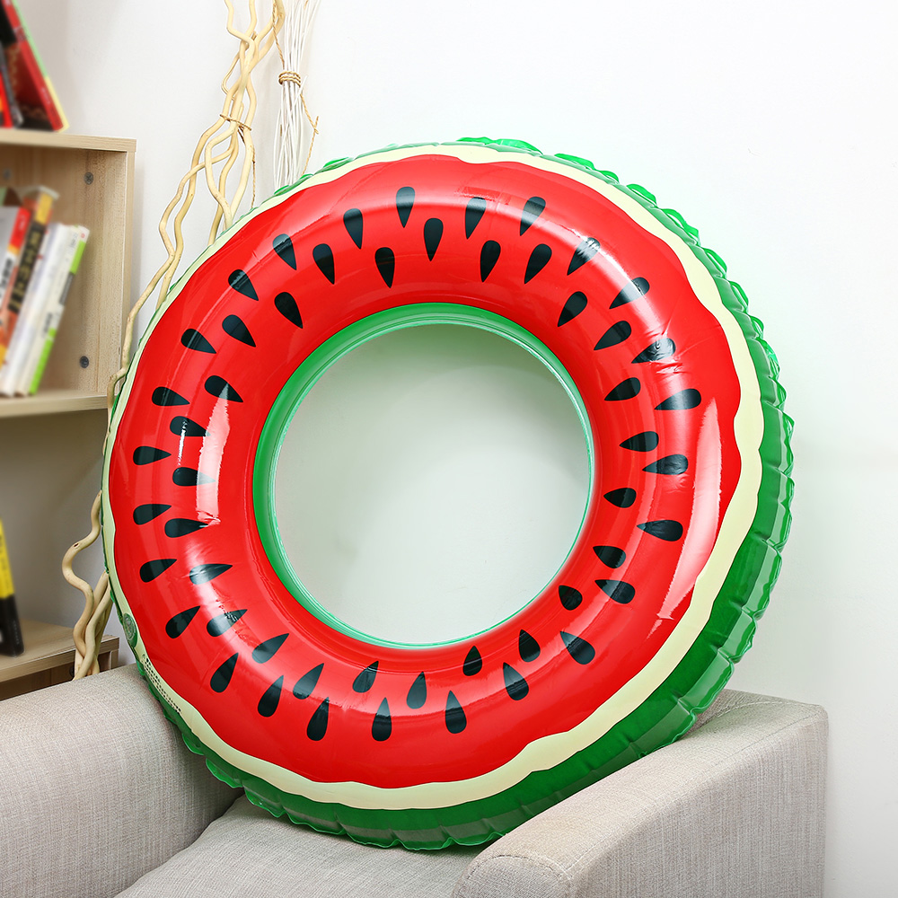 Outlife Watermelon Inflatable Adult Kids Swimming Ring Inflatable Pool Float Circle for Adult Children ...