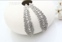 fb7c75978d9d YFJEWE Silver Jewelry Jacinth Elegant Drop Earrings For Women Retro Jewelry  Party Christmas Gifts E170