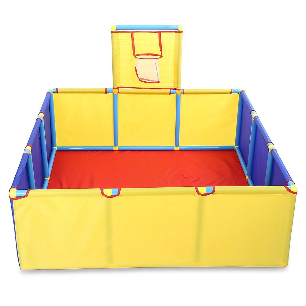 Enfants Portable pliant en plein air carré jouet jouer tente océan balle fosse piscine tente de jeu de basket-Ball jouer clôture enfants Playhouse