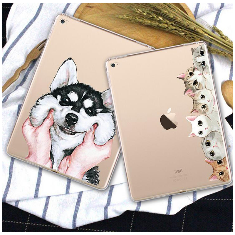 for iPad mini 1 2 3 Case Slim TPU Clear Cover for iPad mini 3 Case Cute Cartoon Soft Transparent Protective Back Cover soft tpu tablet back case for ipad air 1 2 silicone transparent cover for ipad mini 1 2 3 for ipad2 3 4 crystal protective case