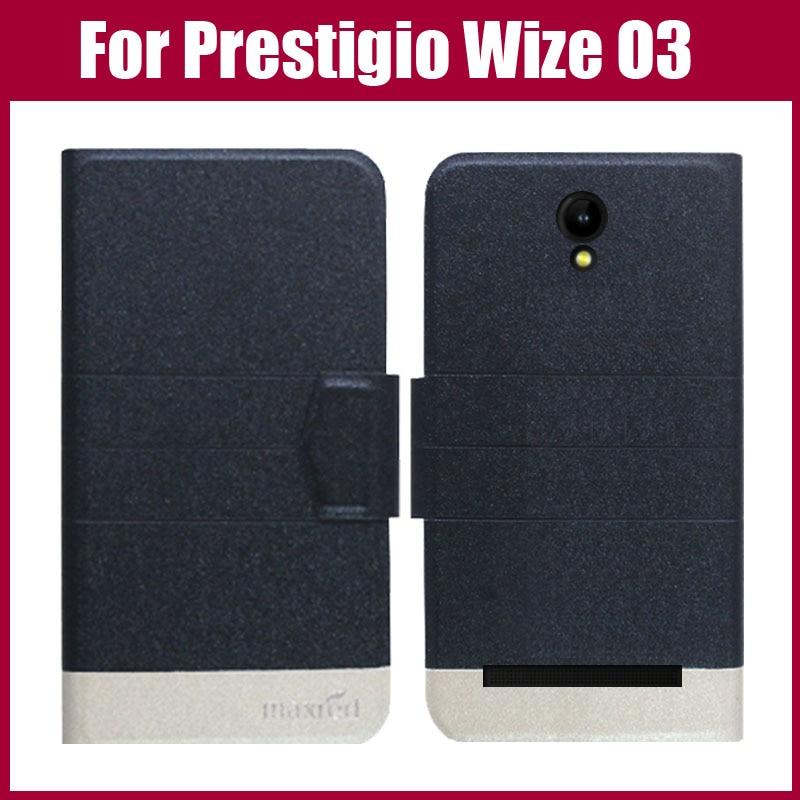 100% QualitäT Prestigio Wize O3 Fall Neue Ankunft 5 Farben Mode Flip Ultra-dünne Leder Schutzhülle Für Prestigio Wize O3 Fall