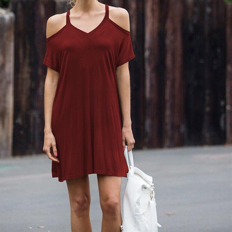 Женское платье на бретельках, повседневное хлопковое платье с коротким рукавом и треугольным вырезом, лето 2019