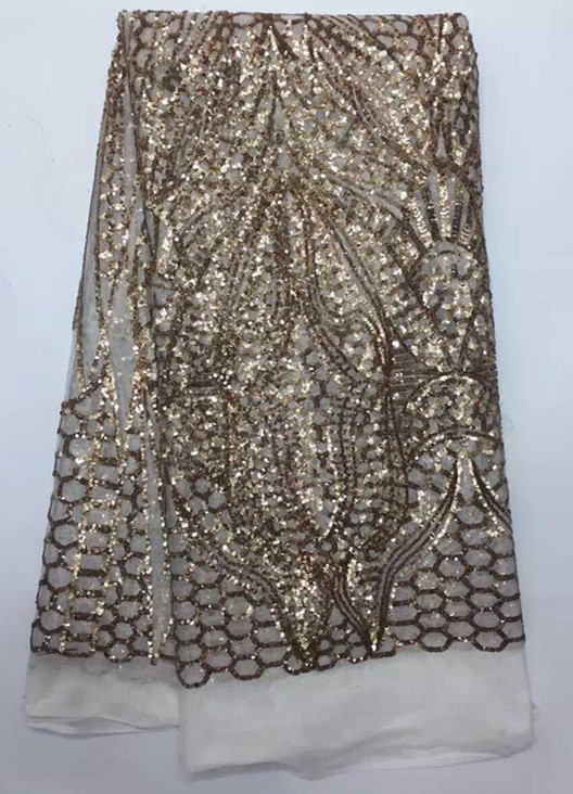 High grade wedding/party lace white+gold sequins French net lace fabric for party African tulle lace JNZ10-4