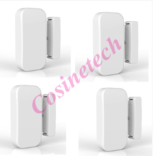 4pcs Intelligent Wireless Door Gap Window Sensor Detector 433MHz door magnet magnetic sensor contact For KERUI Alarm Systems smartyiba 433mhz wireless door window sensor door open detection alarm door magnetic sensor door gap sensor for alarm system
