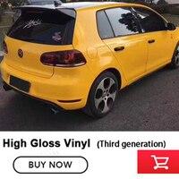 Третье поколение ультра Глянцевый темно желтый винил Обёрточная бумага с High Gloss Блестящий автомобиля Обёрточная бумага фильма Графический