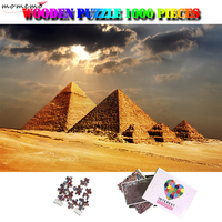 MOMEMO Khufu Pyramid Wooden Jigsaw Puzzle Adults 1000 Pieces Puzzles World Famous Building Landscape Puzzle Toys Home Decor Gift