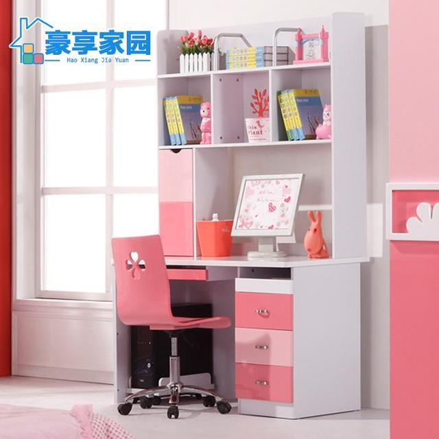 Childrenu0027s Bedroom Furniture Combination Girl Home Computer Desk Writing  Desk With Bookshelves Paint Lockers
