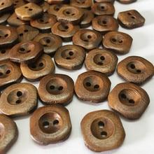 10 шт. 15 мм декоративные деревянные пуговицы для шитья швов аксессуары для скрапбукинга деревянные пуговицы для одежды ремесла ботоны 51099