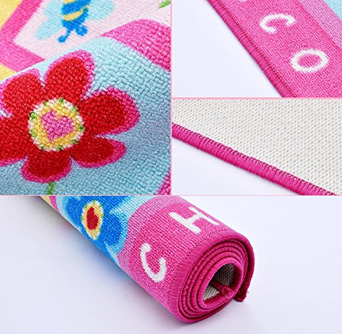 Pink Tapete Kids Rug for Girls Children Kids Living Room Bedroom ...