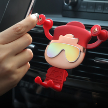 LUCKY Free shipping Gravity Bracket Car Phone Holder Flexible Universal Support Mobile Stand For iPhone
