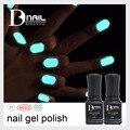BD 6 pcs/lot 1 base coat+1 top coat+4 luminous gel polish glow in the dark nail art Soak Off luminous gel polish