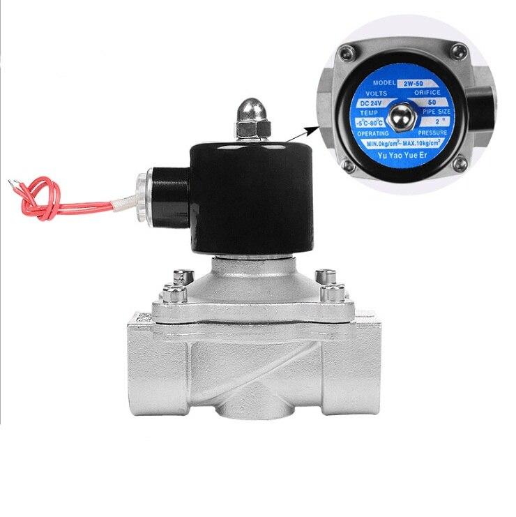 Interruptor de Controle Gás de Água Inoxidável Válvula Solenóide Ozônio Fraca Corrosão Ácido-base Eletrônico Normalmente Fechado 304 Aço Dn10-50