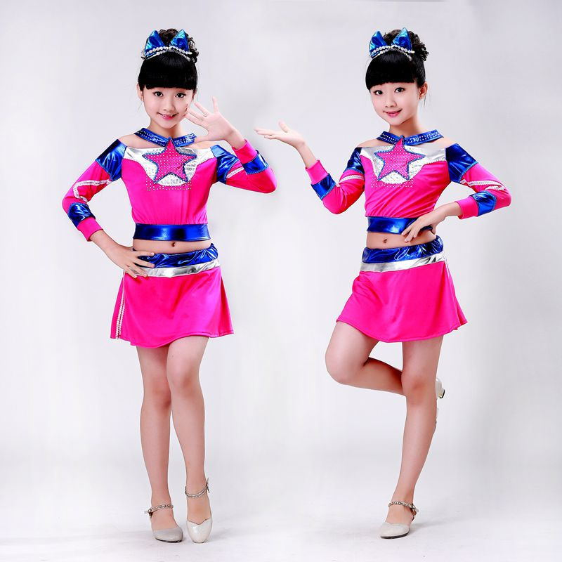 5e00d31ad9 Children's Cheerleading Costumes Kids Elementary School Students ...