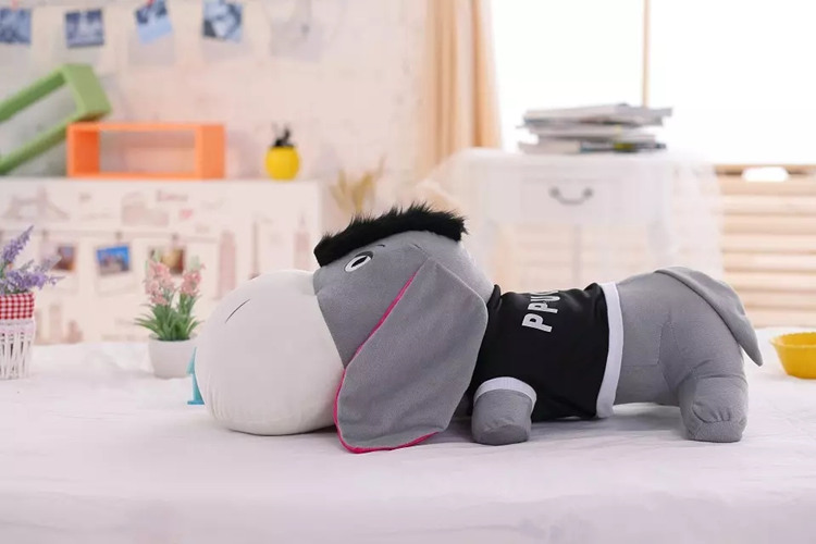 big new plush lying donkey toy stuffed cute donkey pillow doll gift about 110cm cute labrador big plush toy lying dog doll search and rescue stuffed toys children birthday gift pillow