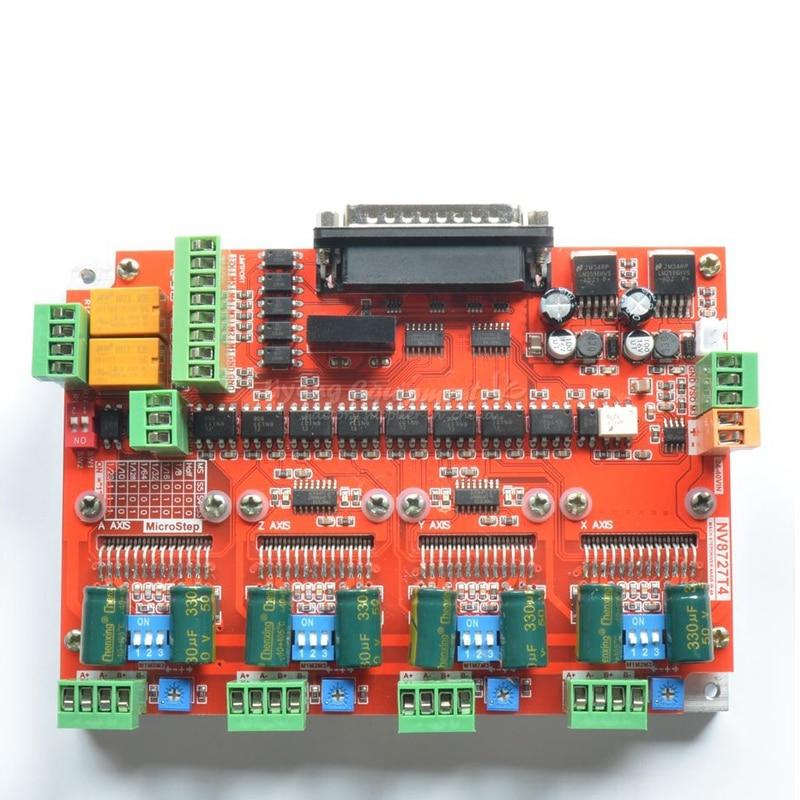 CNC Engraving Machine Control Board Actuator 4 Axis Stepper Motor Driver LV8727