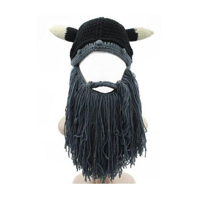 DANKEYISI Inverno Barbaro Viking Beanie Barba Cappello Corno ...