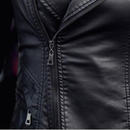 Mince Coupe 2018 Longue Cuir Femmes Peau Automne En Costume vent Revers Section Taille De Nouvelle Vêtements 1 Veste zPwHzrUx